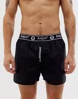 Aape By A Bathing Ape AAPE By A Bathing Ape side logo boxer short in black