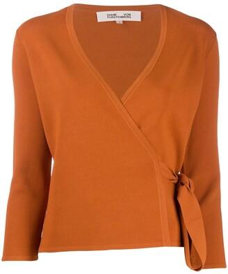 Diane von Furstenberg Wrap-Style Knit Top
