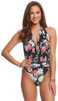 Vince Camuto Tropical Halter Plunge One Piece Swimsuit 8160370