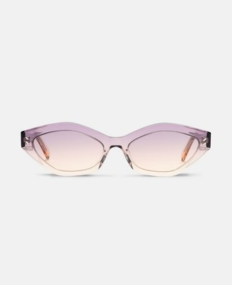 Stella McCartney violet round sunglasses
