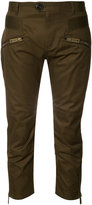 DSQUARED2 cropped rib detail trousers
