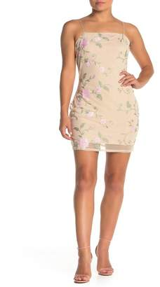 KENDALL + KYLIE Romance Floral Embroidered Mini Dress
