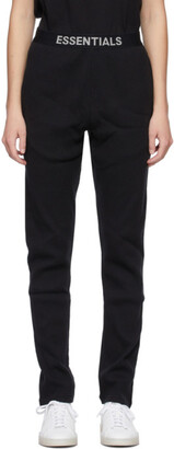 Essentials Black Thermal Lounge Pants