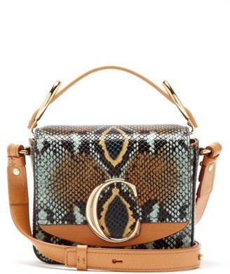 Chloé The C Mini Snake-effect Leather Cross-body Bag - Womens - Python