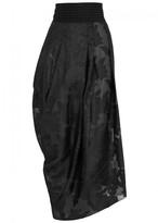 High Maquette Draped Jacquard Skirt