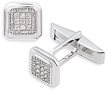 Bloomingdale's Bloomingdales Diamond Pave Cufflinks in 14K White Gold - 100% Exclusive