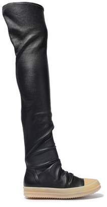 Rick Owens Gathered Stretch-leather Over-the-knee Boots