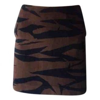 Kenzo Brown Cotton Skirt for Women Vintage