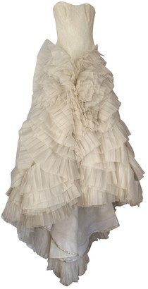 Vera Wang Ecru Lace Dress for Women