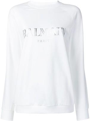 Balmain Logo Printed Sweatshirt