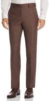 Luigi Bianchi Classic Fit Slub Weave Trousers