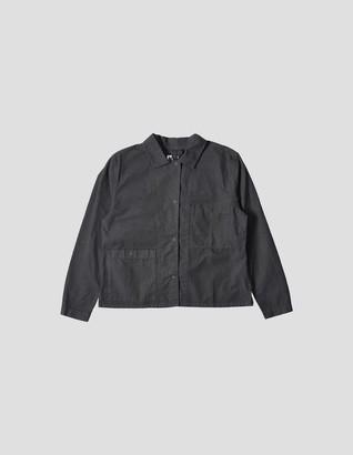 Margaret Howell Odd Pocket Shirt in Uniform Green - Extra Small (XS) | cotton | green - Green/Green