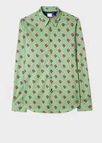 Paul Smith Men's Tailored-Fit Light Green 'Blooming Flowers' Print Shirt
