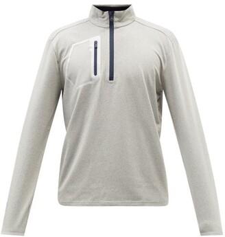 Polo Ralph Lauren Zipped Performance-jersey Long-sleeve T-shirt - Blue
