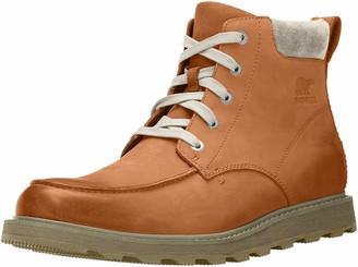 Sorel Men's Madson Moc Toe Waterproof Boot Black/Grey (Grill) Size: 14