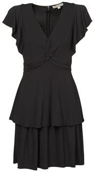 MICHAEL Michael Kors TWIST RUFFLE DRESS women's Dress in Black