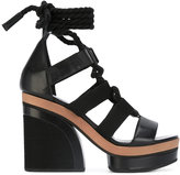 Pierre Hardy lace-up sandals - women - Leather/Cotton - 38
