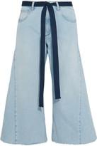 Sonia Rykiel Belted Cropped Wide-leg Jeans - Blue