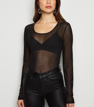 New Look NA-KD Mesh Long Sleeve Top