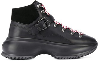 Hogan chunky sole boots