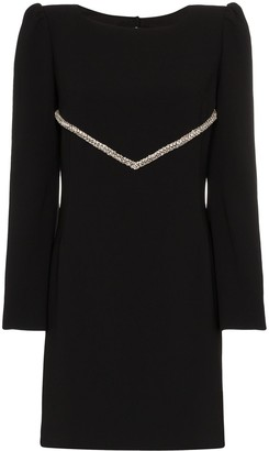 HANEY Audrey crystal embellished mini dress
