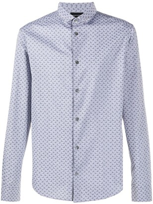 Emporio Armani Logo Print Cotton Shirt