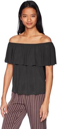LIRA Women's Naomi Cold Shoulder Basic Top