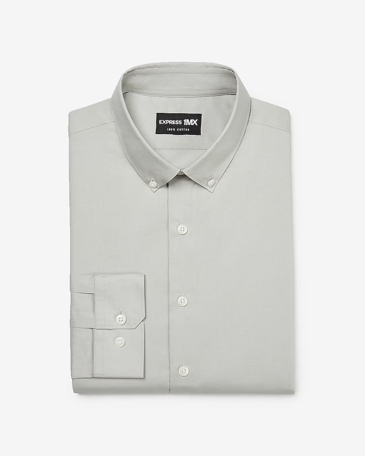 507fc669d0f Express Gray Men s Dress Shirts - ShopStyle