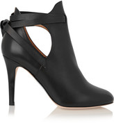 Jimmy Choo Marina Cutout Leather Ankle Boots - Black