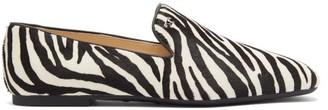 Tod's Zebra-print Calf Hair Loafers - Womens - Black White