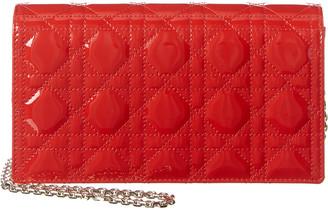 Christian Dior Lady Patent Clutch