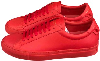 Givenchy Red Leather Trainers