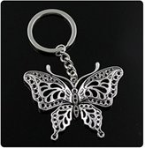 Nobrand No brand fashion men 30mm keychain DIY metal holder chain vintage hollow butterfly 6048mm antique silver pendant