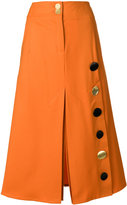 Eudon Choi button detail skirt