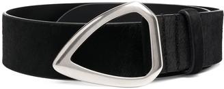 Isabel Marant Silver-Tone Leather Buckle Belt