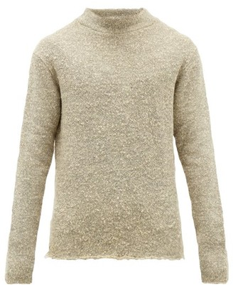 424 - Raw-edged Boucle-knit Sweater - Mens - Grey