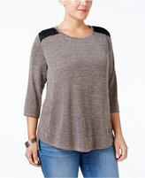 Style&Co. Style & Co. Plus Size Lace-Back Swing Top, Only at Macy's