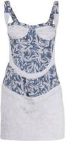 Couture Atu Body printed bustier mini dress