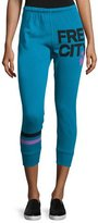 Freecity Strike Sounds Cropped Jogger Pants, Blue
