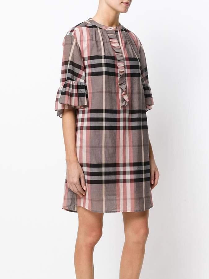 Burberry checked shift dress