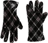 Cejon Black & Ivory Plaid Velvet Glove