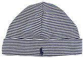 Ralph Lauren Baby Boys Striped Beanie - Navy
