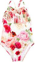 MonnaLisa floral print swimsuit - kids - Polyester/Spandex/Elastane - 2 yrs