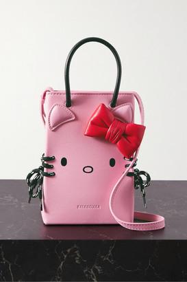 Balenciaga Hello Kitty Mini Printed Leather Shoulder Bag - Baby pink