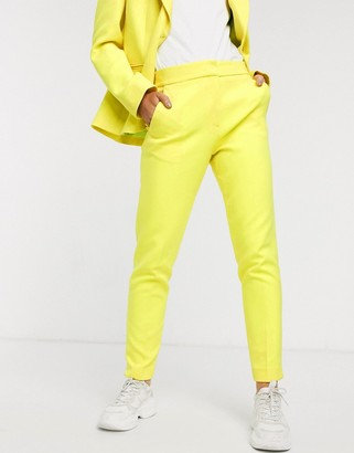 French Connection tailored trouser in lemon tonic