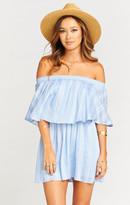 MUMU Casita Mini Dress ~ Sidewalk Stripe Periwinkle Challis