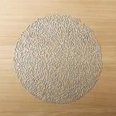 CB2 Chilewich ® Petal Silver Cutout Placemat