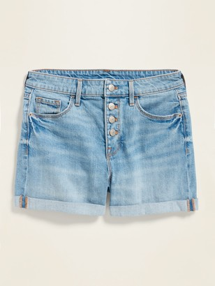 Old Navy High-Waisted Button-Fly Cuffed Jean Shorts for Women -- 3.5-inch inseam