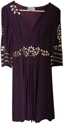 Temperley London Burgundy Silk Dress for Women
