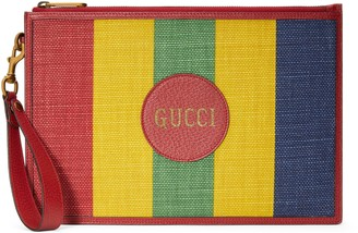 Gucci Baiadera stripe canvas pouch